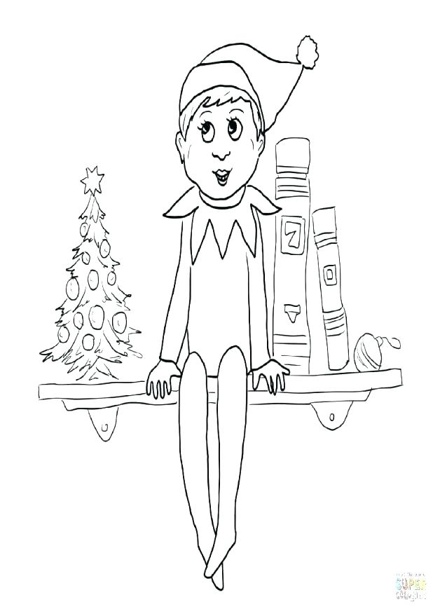 618x872 Christmas Elf Coloring Pages Free Printable Elf Coloring Page