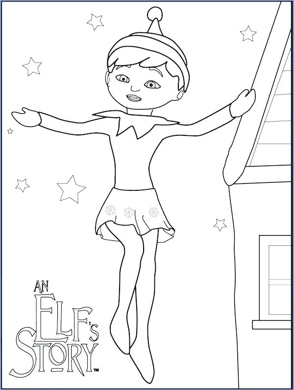 600x795 Christmas Elves Coloring Pages Elf Coloring Page Christmas Elf