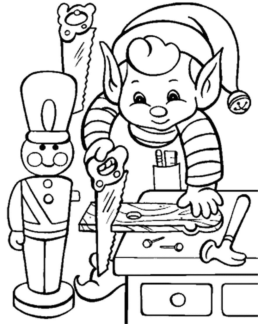 Christmas Elves Coloring Pages To Print At Getdrawings Com