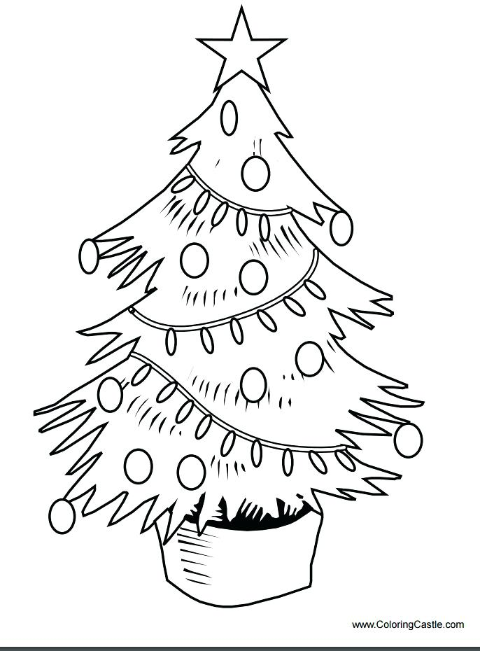 686x930 Plain Christmas Tree Coloring Page Plain Christmas Tree Coloring