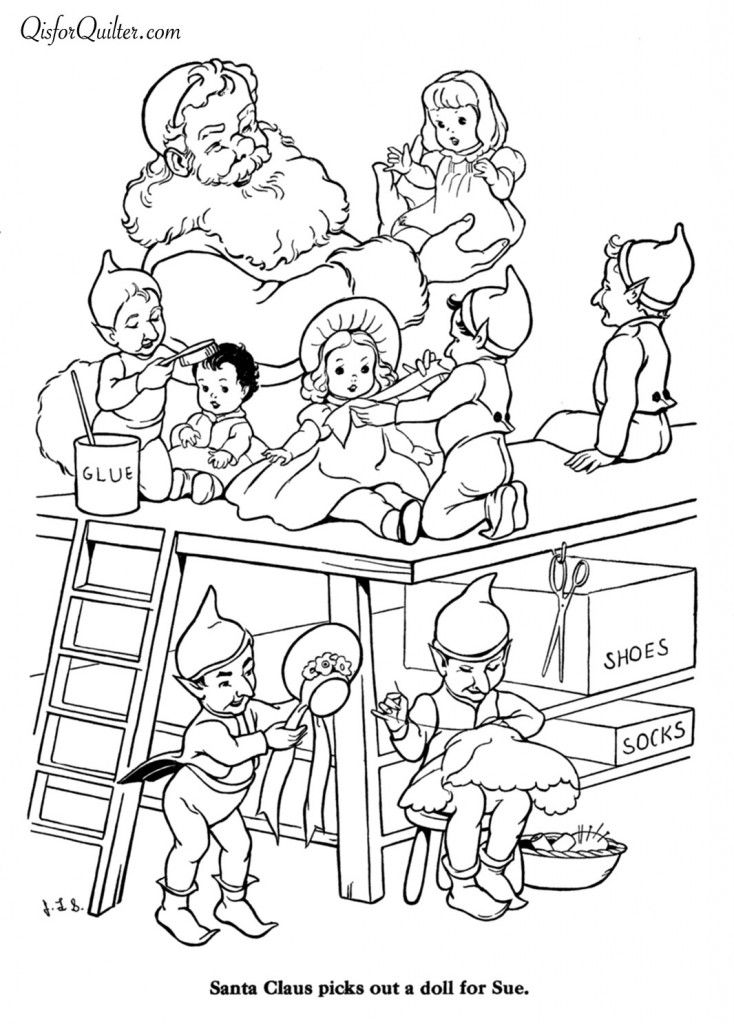 Christmas Family Coloring Pages