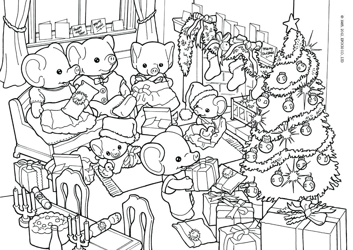 1170x827 Coloring Pages Christmas Stocking Family Page Delicious Food
