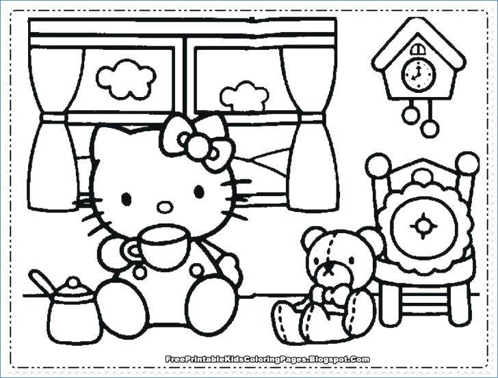 728x553 Hello Kitty Friends And Family Coloring Pages