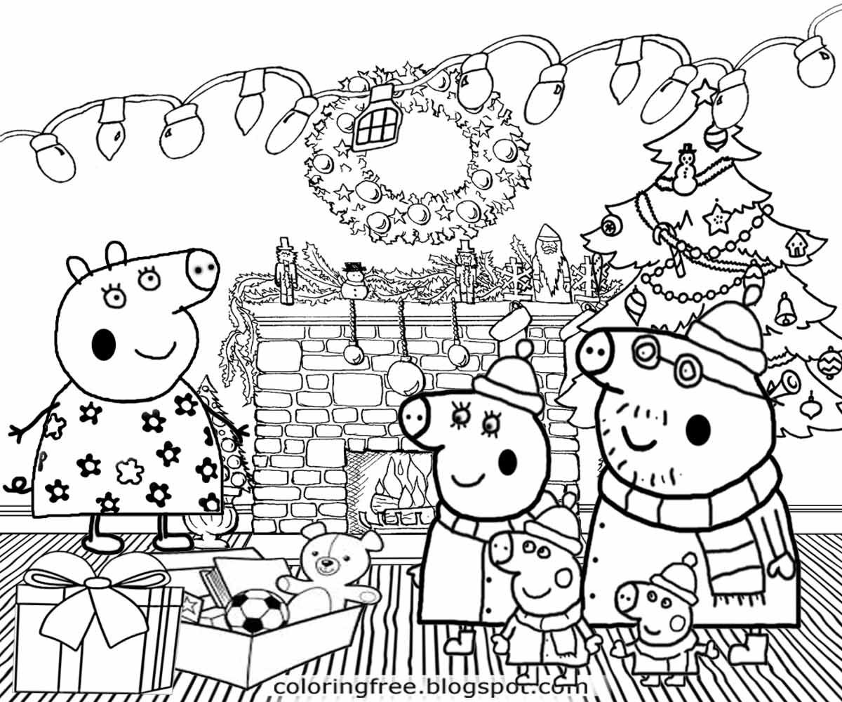1200x1000 Scenery Coloring Pages For Christmas