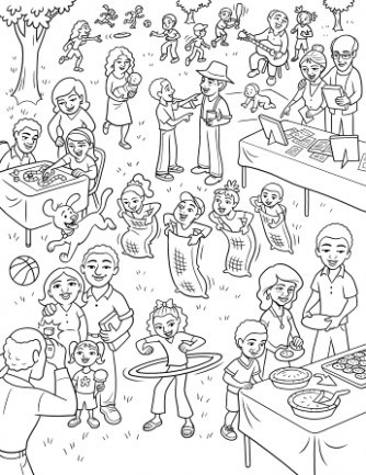 334x433 Christmas Family Coloring Pages Realistic Coloring Pages