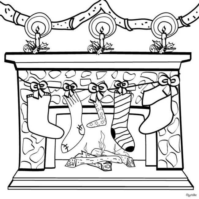 Pleasing The Best Free Fireplace Coloring Page Images Download From Home Interior And Landscaping Palasignezvosmurscom