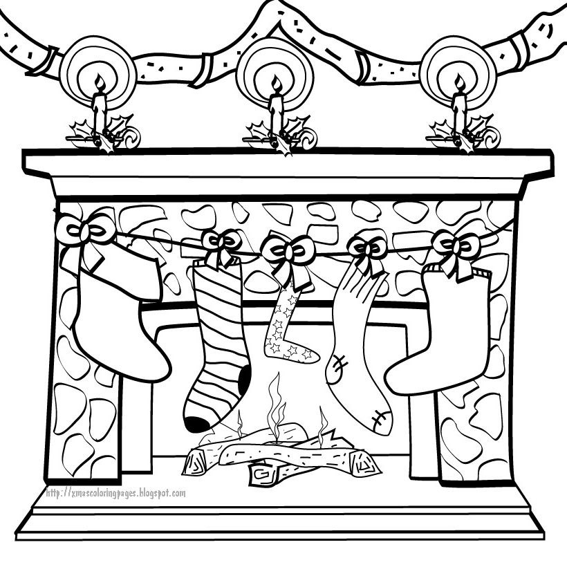 820x820 Xmas Coloring Pages