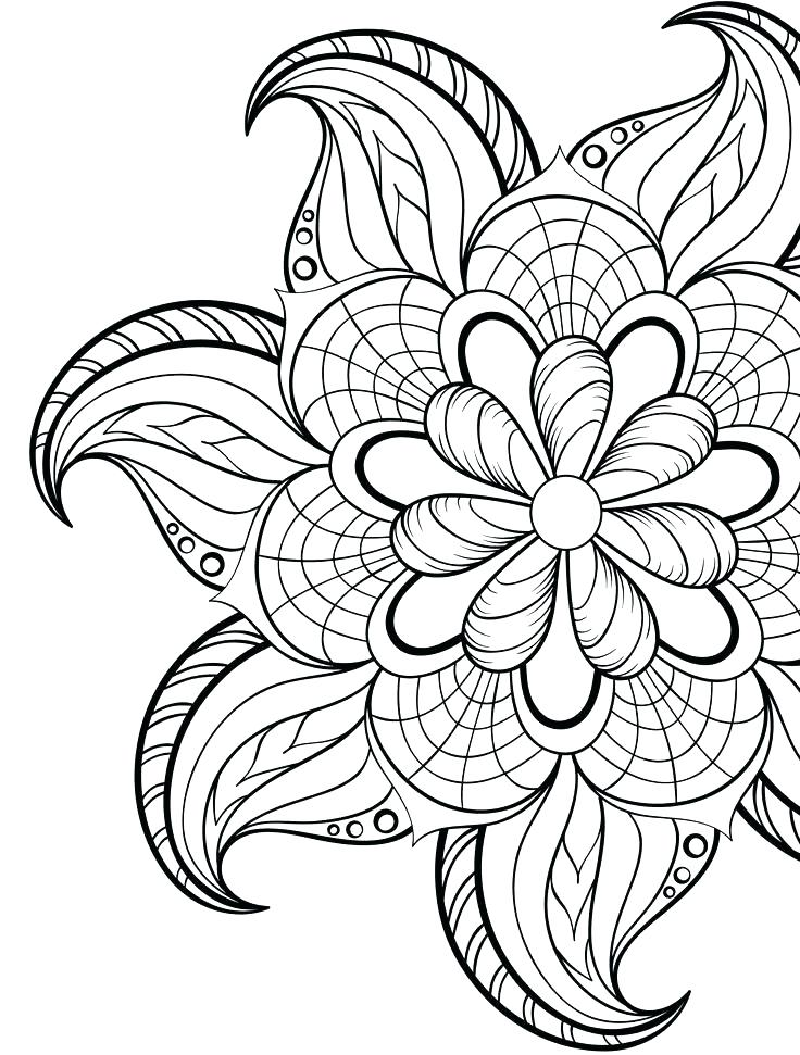 Christmas Flower Coloring Pages