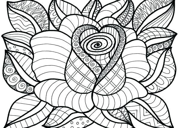 596x425 Gorgeous Poinsettia Flower Coloring Page Wesmec Site