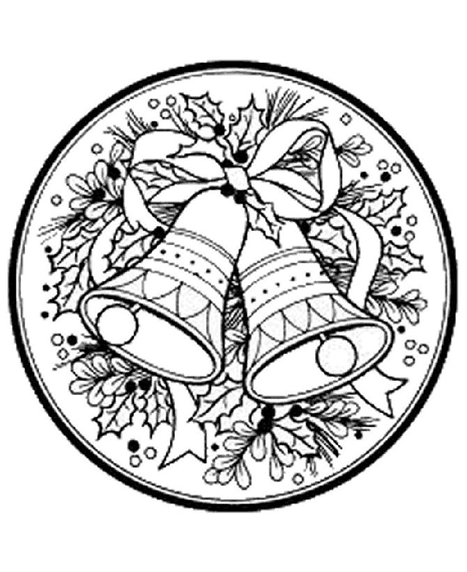 Christmas Garland Coloring Pages