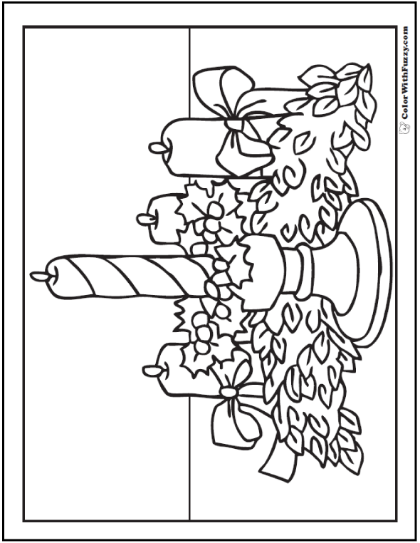 Christmas Garland Coloring Pages at GetDrawings.com
