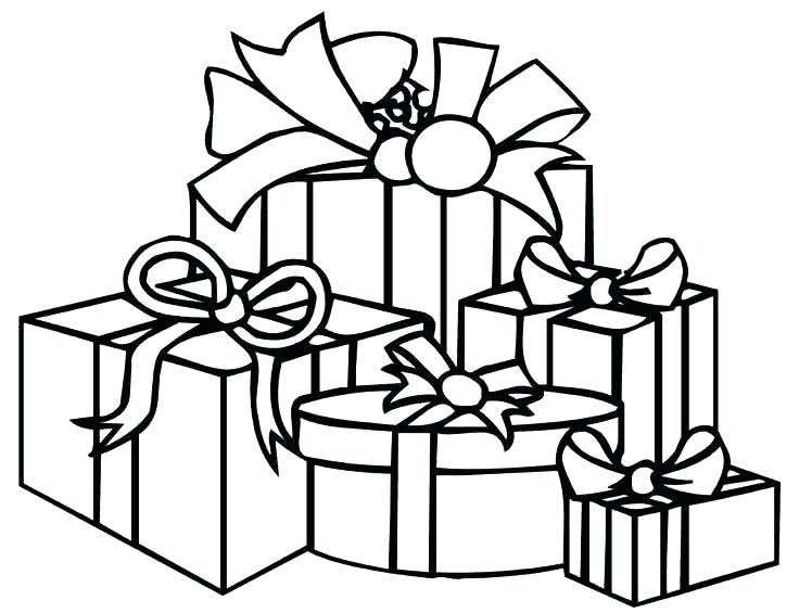 736x565 Christmas Gift Coloring Page Gift Coloring Page Christmas Gift