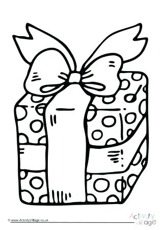 320x453 Christmas Gift Coloring Page Present Colouring Page Pages