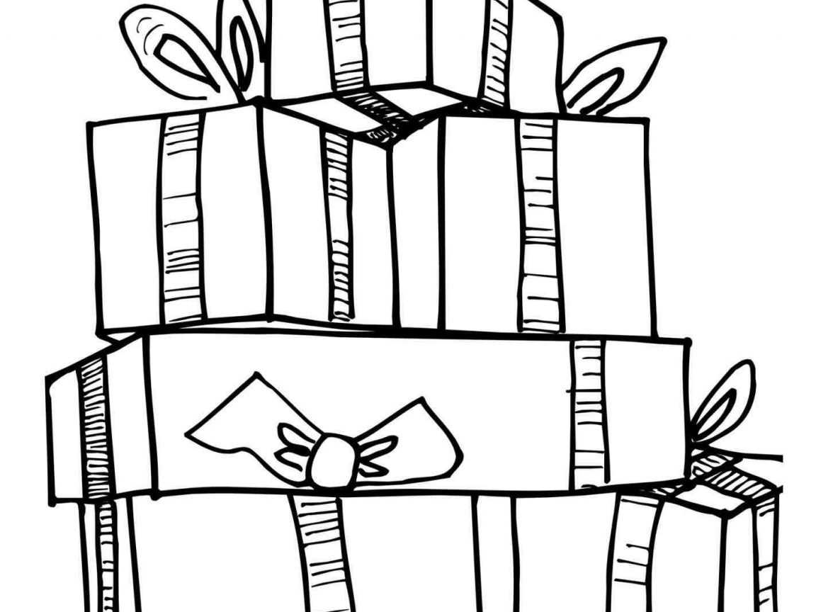 1152x864 Christmas Present Coloring Pages Easy Free Presents Page Printable