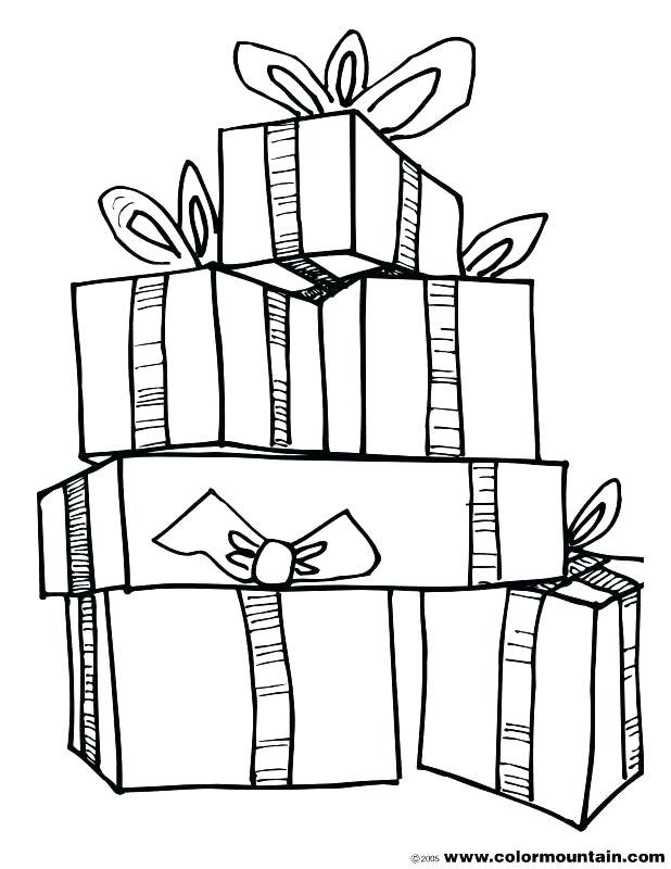 618x800 Christmas Present Coloring Pages Gift Box Colouring Page Happy