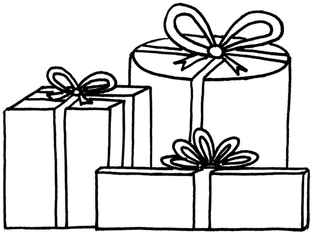 1024x768 Christmas Present Coloring Pages Coloring Pages Kids