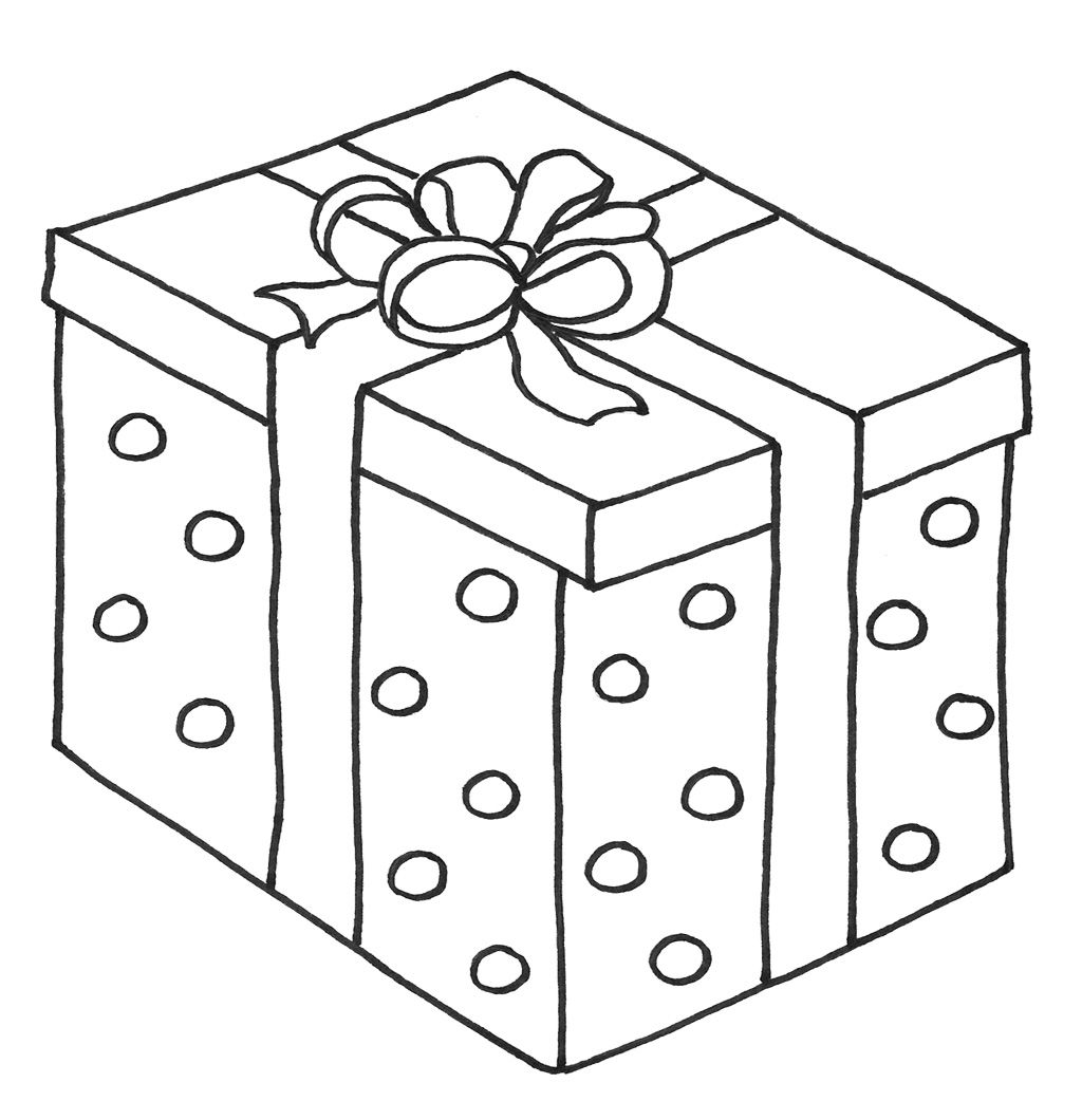 1024x1060 Christmas Presents With Box Coloring Page Christmas