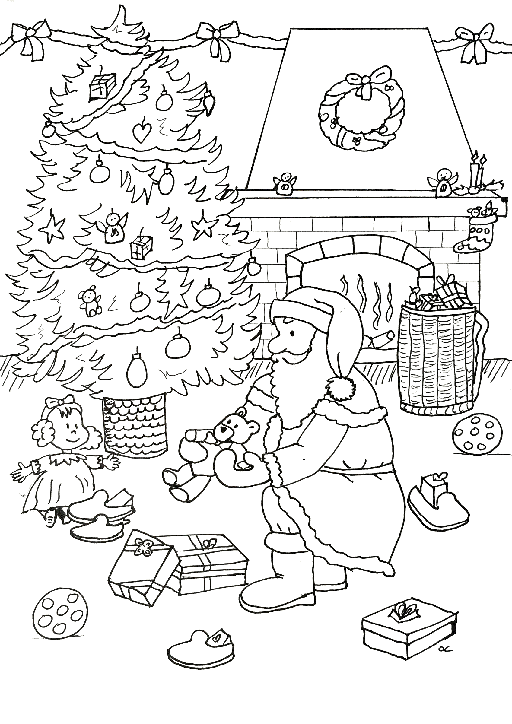 1697x2400 Best Of Christmas Owl With T Boxes Coloring Page