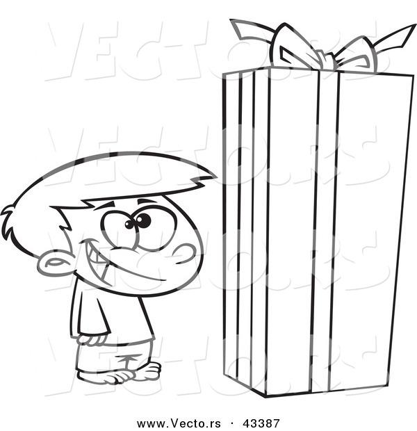 600x620 Vector Of A Happy Cartoon Boy Standing