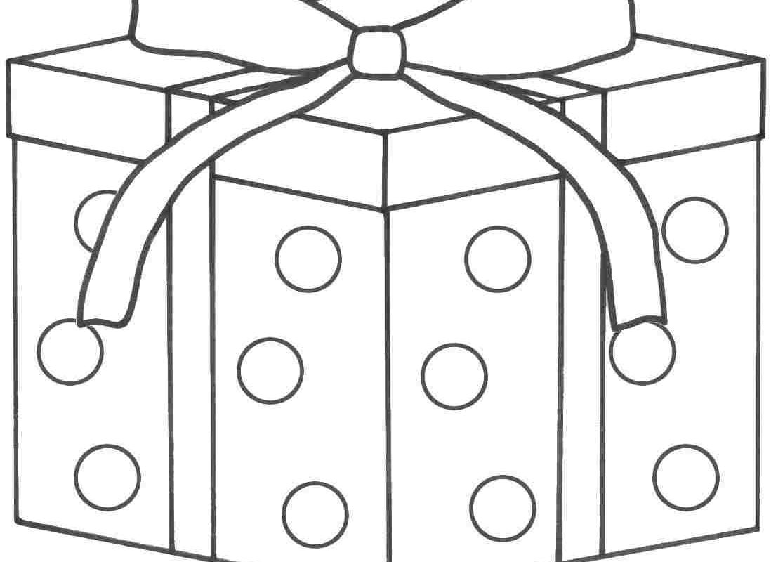 1098x800 Birthday Presents Coloring Page Awesome Cake Present Colouring