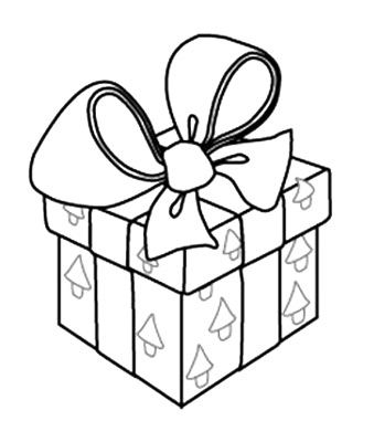 339x400 Christmas Gift Box Coloring Pages