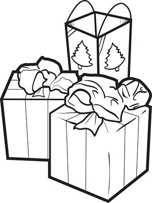 300x401 Christmas Gift Boxes Coloring Pages Fun Things Page For Kids Gifts