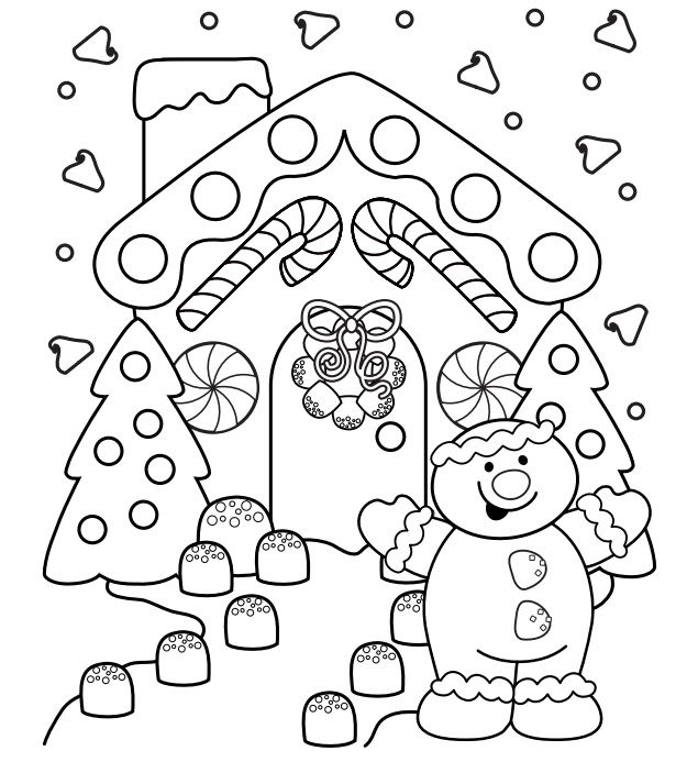 625x703 Free And Fun Christmas Coloring Pages