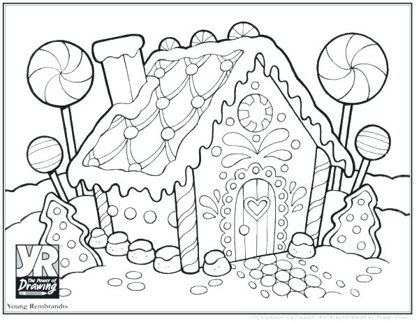 Christmas Gingerbread House Coloring Pages.Christmas Gingerbread Coloring Pages At Getdrawings Com