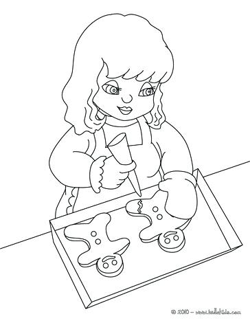 364x470 Gingerbread Man Coloring Pages Free To Color Gingerbread Man