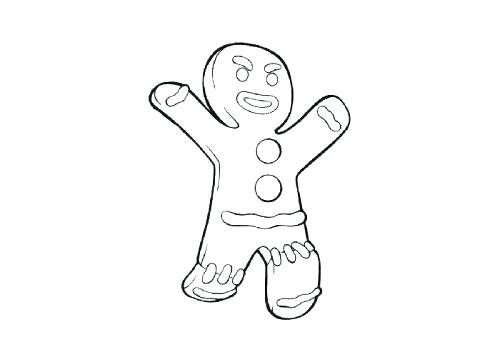 500x357 Gingerbread Man Colouring Pages Gingerbread Man Color Sheet Cute