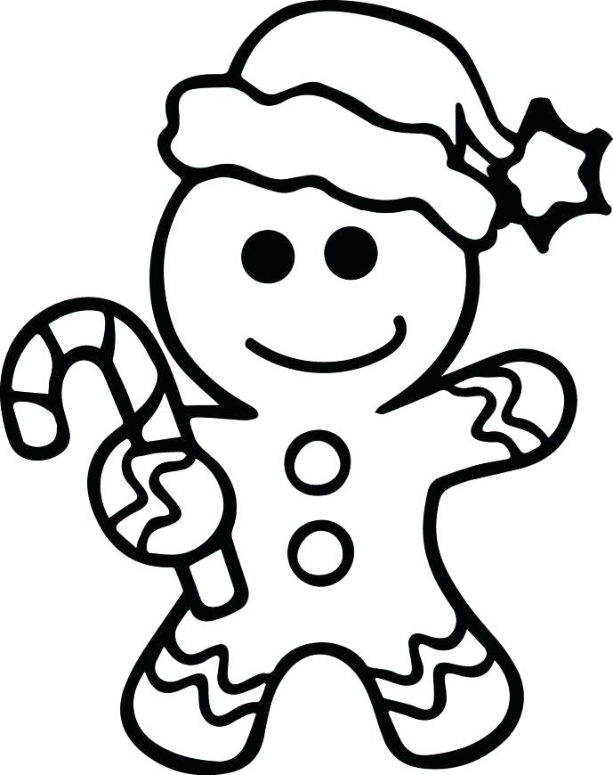 689x870 Christmas Gingerbread Man Coloring Sheets Kids Coloring