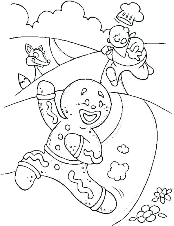 600x779 Gingerbread Man Color Sheet Cute Gingerbread Man Coloring Pages