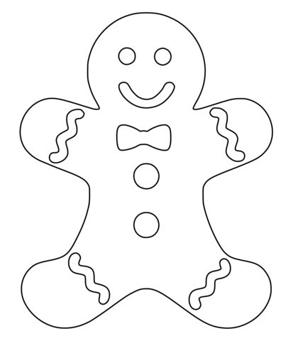 420x480 Gingerbread Man Coloring Pages