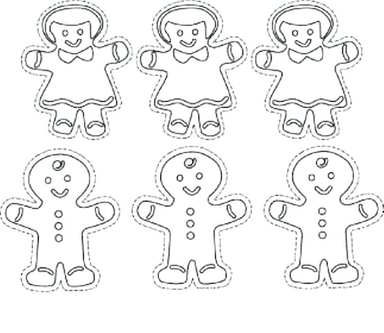 753x652 Gingerbread Man Coloring Pages Gingerbread Boy And Girl Coloring