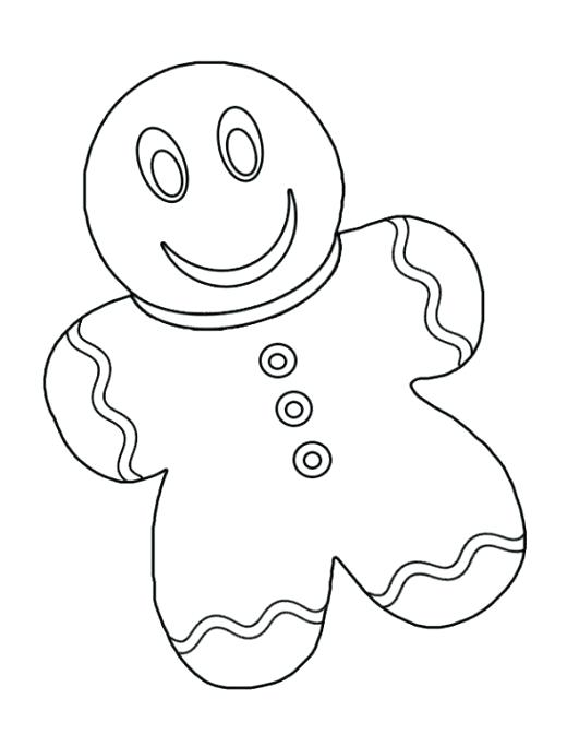 520x683 Gingerbread Man Colouring Pages Gingerbread Man Coloring Page