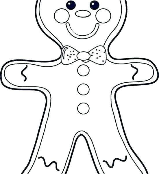 550x600 Gingerbread Man Color Sheet