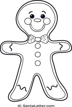 236x349 Christmas Gingerbread Man Coloring Pages Tonias Favs