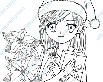 340x270 Christmas Digital Stamp Winter Coloring Page Snowflake