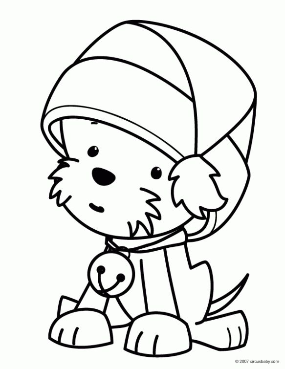 Christmas Hat Coloring Pages