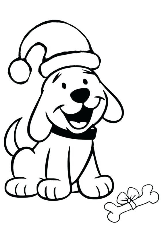 564x799 Puppies Coloring Pages Free Coloring Christmas Santa Hat Coloring