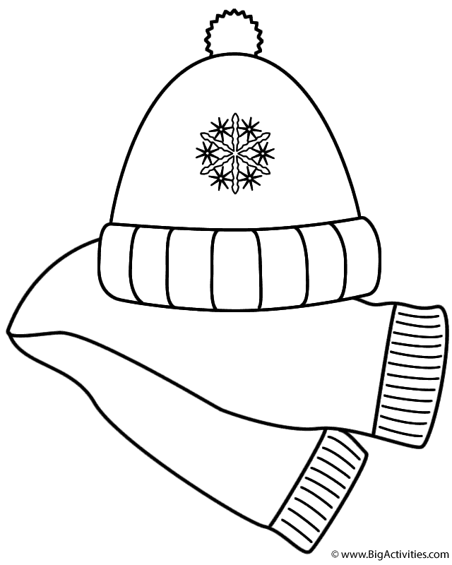 640x800 Scarf And Winter Hat