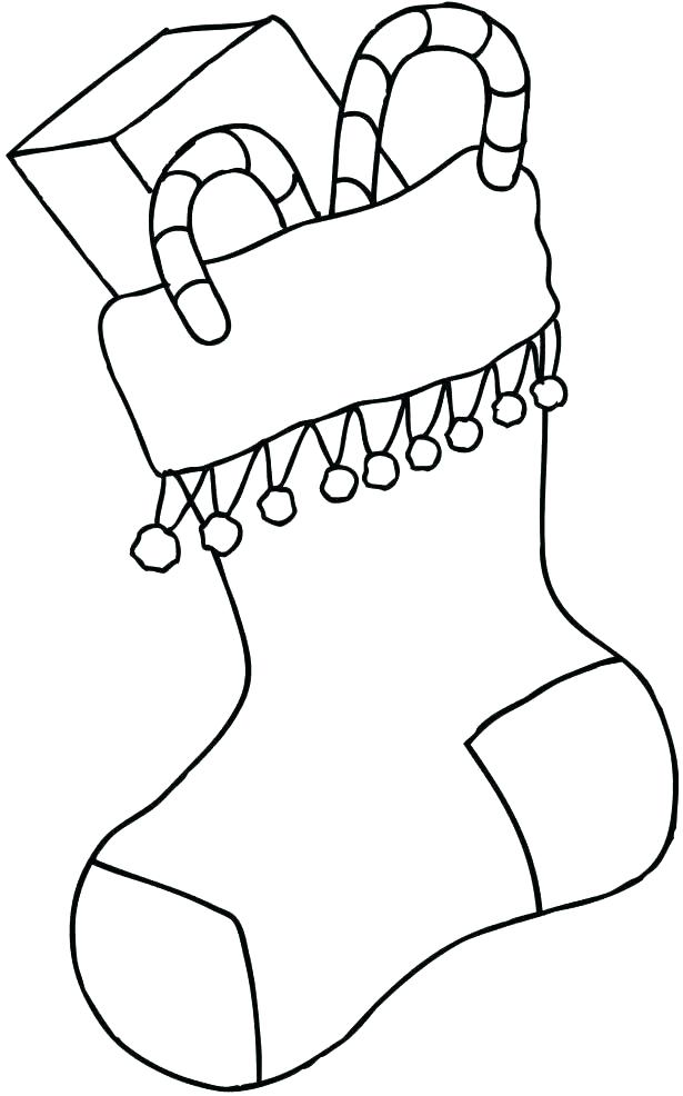 615x986 Stocking Coloring Sheets