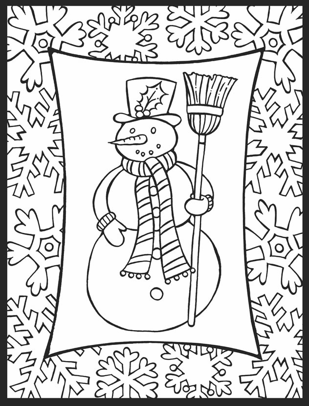 632x830 Happy Holidays Christmas Coloring Pages