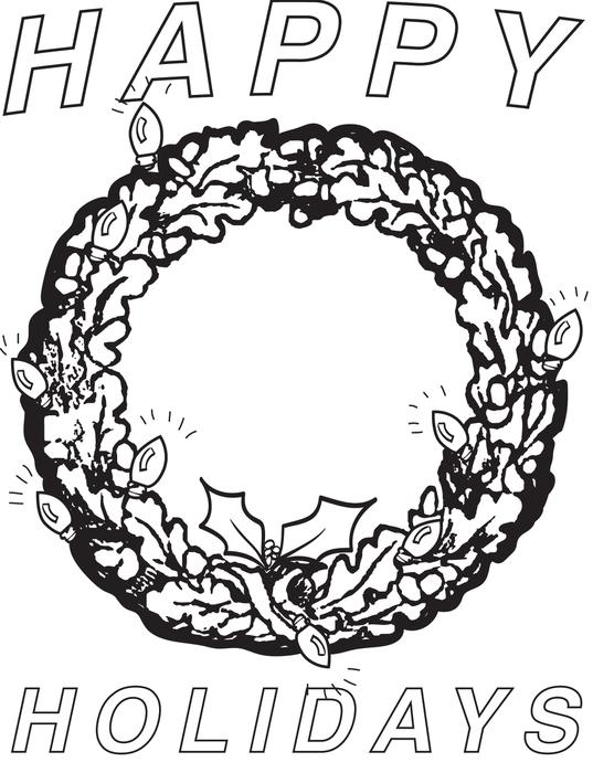 537x700 Happy Holidays Coloring Pages