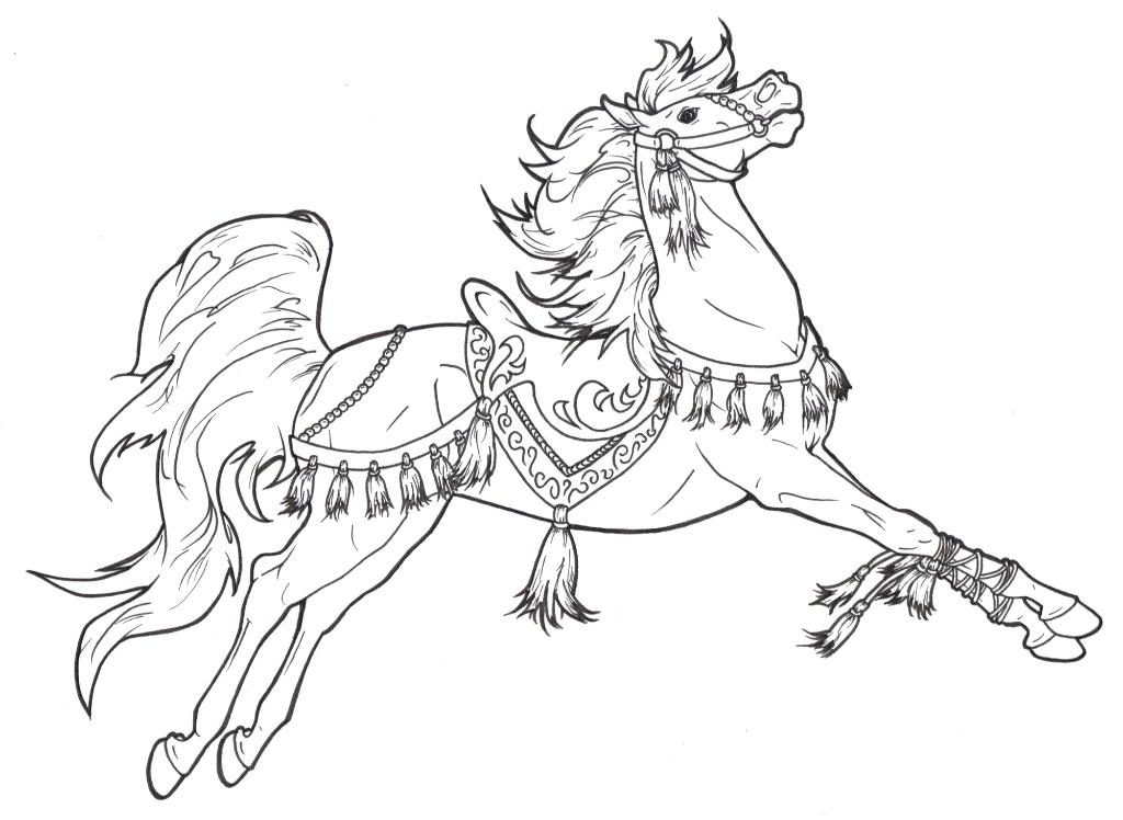 1024x748 Christmas Horse Coloring Pages Christmas Horse Coloring Pages