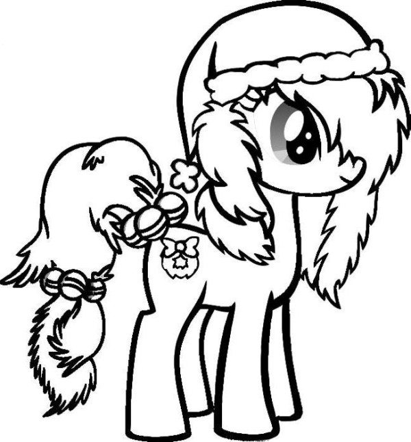 600x646 Christmas Horse Coloring Pages Christmas Horse Coloring Pages Cute