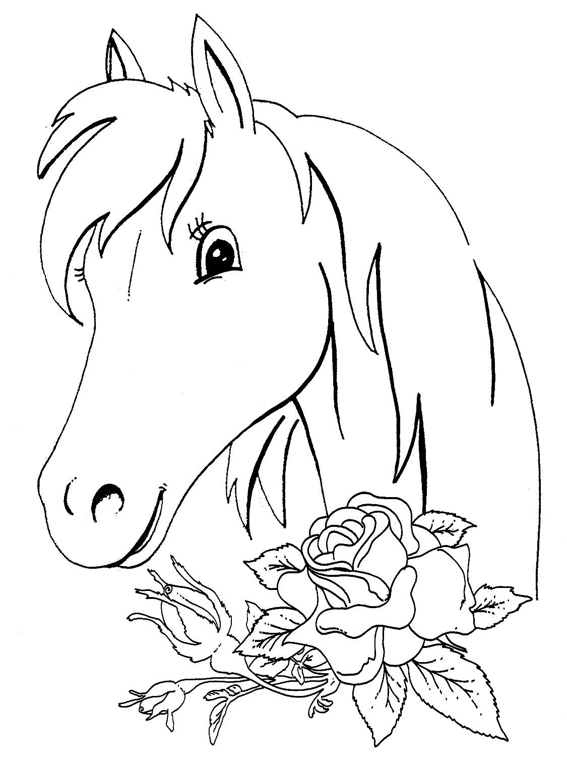 1125x1500 Christmas Horse Coloring Pages Free Coloring For Kids