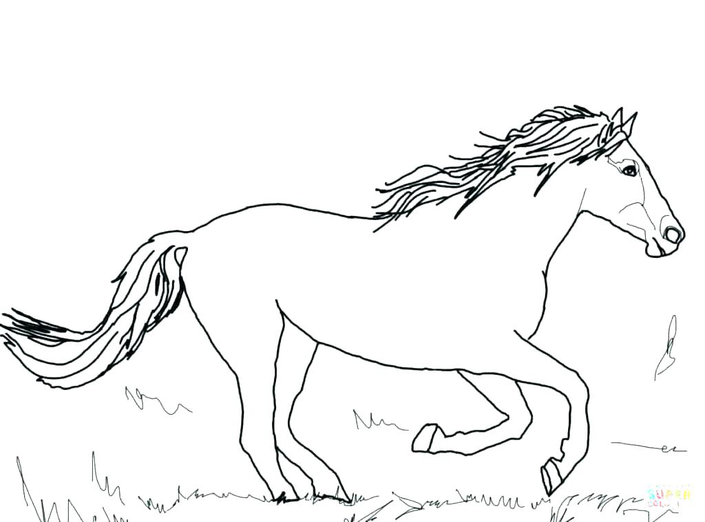 1024x759 Christmas Horse Coloring Pages Free Printable Cartoon Horse