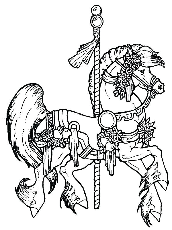 600x801 Holiday Horse Coloring Pages Detailed Color For Teenage Girls Pag