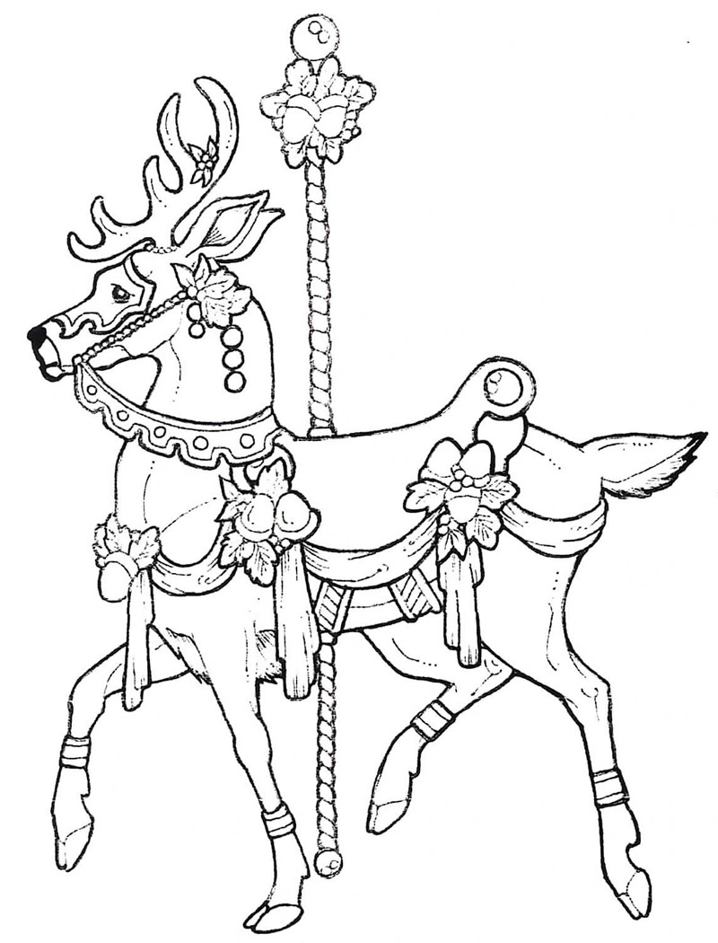 800x1050 Carousel Coloring Pages